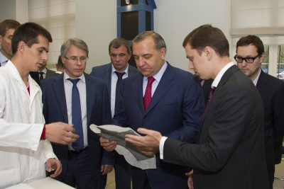Министр МЧС заинтересовался работой бауманского центра композиционных материалов