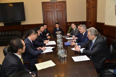 Состоялась встреча с замминистром образования КНР