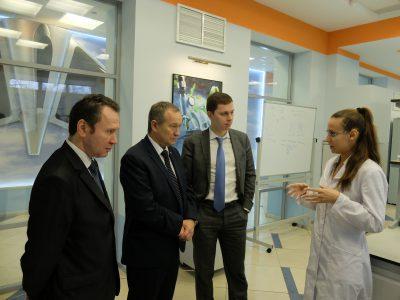 Руководство Национальной академии наук Беларуси посетило лаборатории МИЦ «Композиты России»