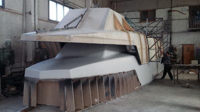 МИЦ «Композиты России» ведет разработку надстройки из полимерных композиционных материалов для скоростных пассажирских судов на подводных крыльях