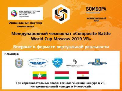 Технологический конкурс Composite Battle World Cup Moscow 2019 впервые пройдет в VR