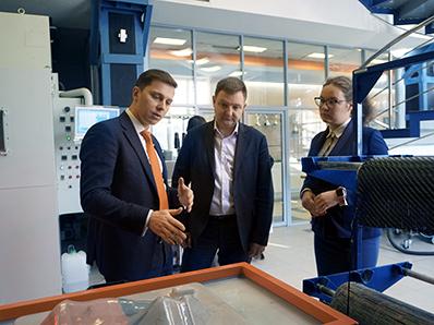 Руководитель Росмолодежи с рабочим визитом посетил «Композиты России»